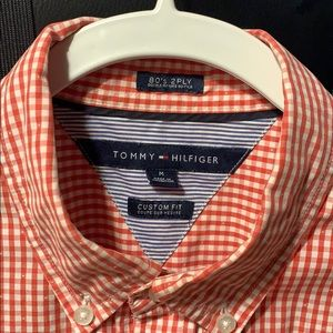 Tommy Hilfiger Red Checkered Button Down